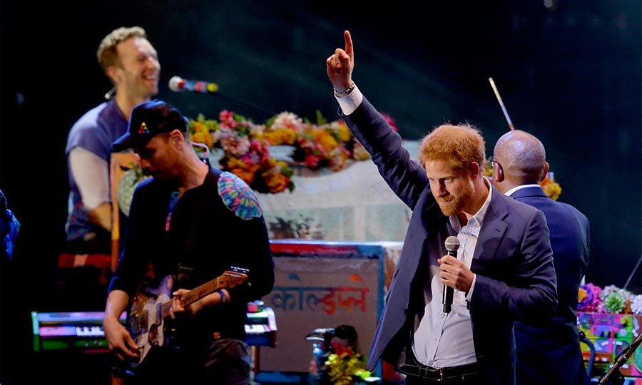 <b>He threw a concert for Sentebale - and Coldplay headlined</b>