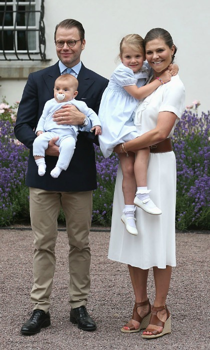 July 2016: Princess Estelle stepped out with parents Prince Daniel and Crown Princess Victoria, in addition to her little brother Prince Oscar, to celebrate her mom's 39th birthday in Sweden.