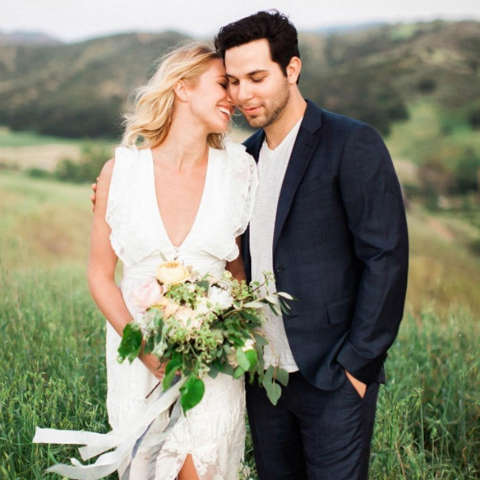 <b>Anna Camp and Skylar Astin</b>