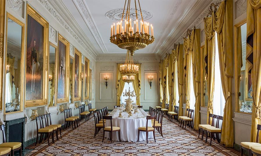 The Palace, which originated as a medieval farmhouse and was converted to a royal residence in 1533, is decked out with gold leaf, slabs of marble, crystal chandeliers and priceless antique pieces. 