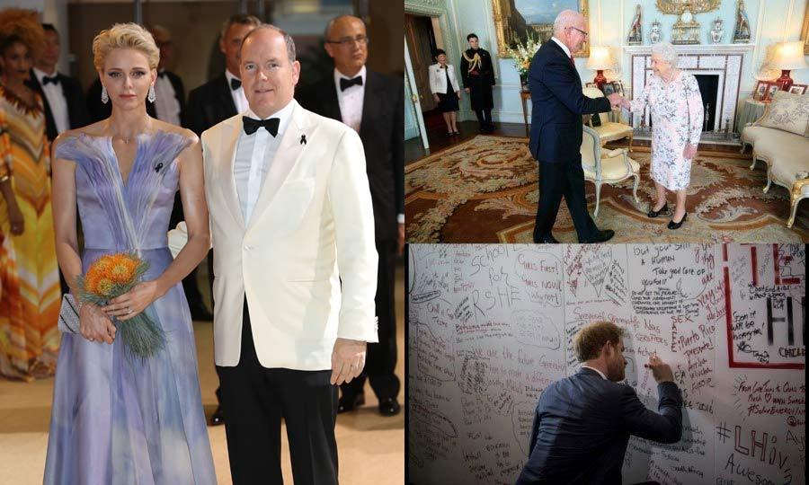 From Prince Albert and Princess Charlene's chic night out to Queen Maxima and King Willem-Alexander's invitation inside their lavish palace, here is a look at the best royal moments of the week. 