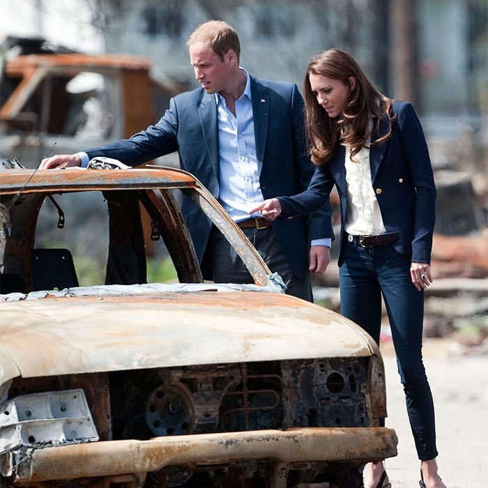 On day seven William and Kate made an unscheduled visit to the town of Slave Lake in Alberta. <br>During their tour of the town (which was almost entirely reduced to ashes after it was ravaged by violent forest fires two months earlier) the pair inspected a car that had been burnt during the fire that caused damage to the town.  