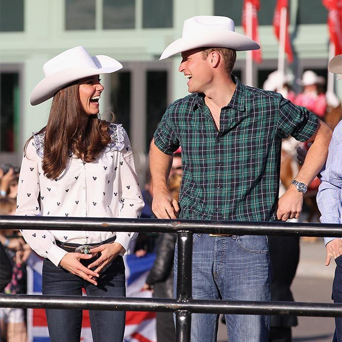 Dressed from head to toe in cowboy attire – including ten gallon hats – the Duke and Duchess of Cambridge let their hair down at the world's biggest rodeo in Calgary on one of their final days of their tour.