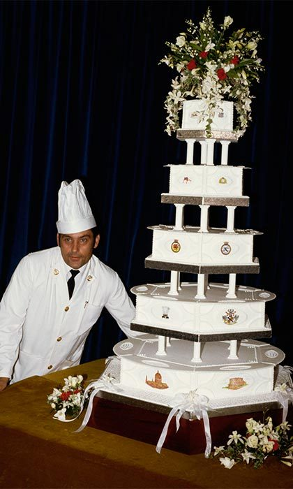 The royal couple had 27 wedding cakes for their big day — however, the official cake, which stood over five-feet tall, was made by David Avery, the head baker of the Naval Armed Forces. The cake featured Charles' coat of arms in addition to Diana's family crest and their first name initials. The impressive dessert was topped off with roses, lilies of the valley and orchids.