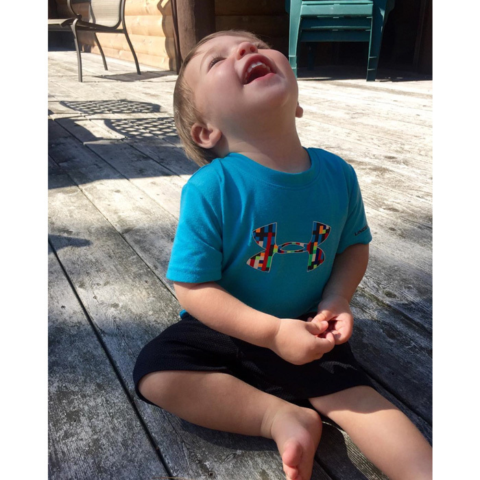 "<a href=""http://us.hellomagazine.com/tags/1/carrie-underwood/""><strong>Carrie Underwood</strong></a> posted a precious snap of her little boy Isaiah Fisher soaking up the sun. Attached to the photo she wrote, ""He soaks in the sunshine...and I realize that he is mine... I don't deserve such sweetness! #blessed #momlife.""