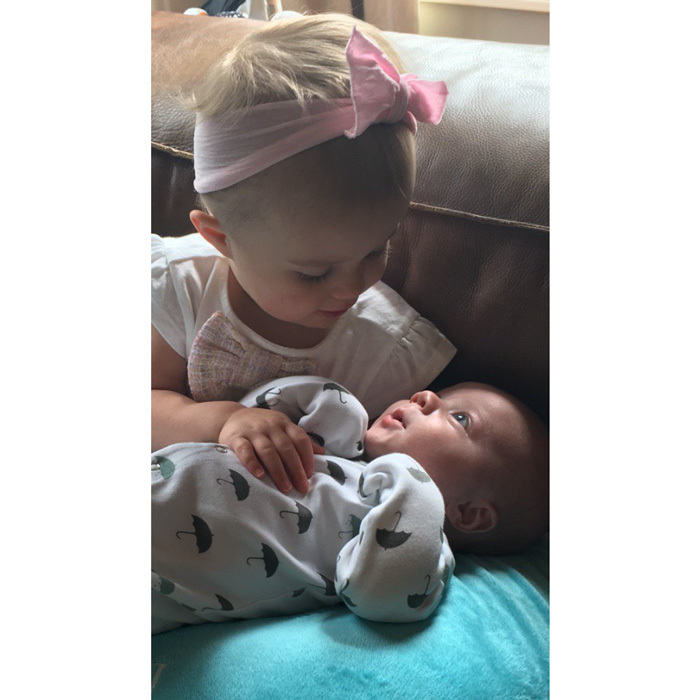 "River Rose Blackstock is one doting big sister! <a href=""http://us.hellomagazine.com/tags/1/kelly-clarkson/""><strong>Kelly Clarkson</strong></a> captured a tender moment between her daughter and son Remington writing, ""The big sis love is real  #river&remy.""
