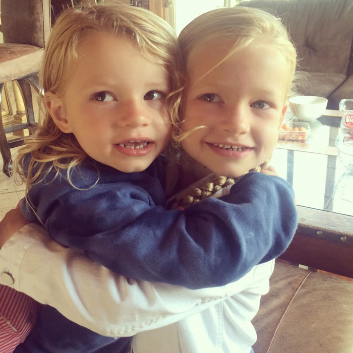 "<a href=""http://us.hellomagazine.com/tags/1/jessica-simpson/""><strong>Jessica Simpson</strong></a> shared a photo her ""brown-eyed man"" (son Ace) and ""blue-eyed lady"" (daughter Maxi) embraced in a sweet hug.