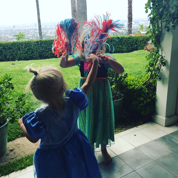 "<a href=""http://us.hellomagazine.com/tags/1/drew-barrymore/""><strong>Drew Barrymore</strong></a>'s daughters Frankie (left) and Olive (right) showed off their ""princess spirit"" in fun costumes.
