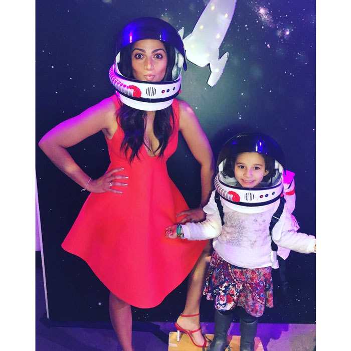 "Matthew McConaughey's daughter Vida Alves McConaughey got silly with her mom <a href=""http://us.hellomagazine.com/tags/1/camila-alves/""><strong>Camila Alves</strong></a> wearing space helmets.