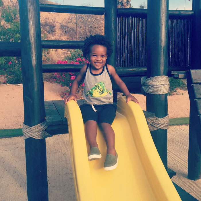 "<a href=""http://us.hellomagazine.com/tags/1/ciara/""><strong>Ciara</strong></a> posted an adorable photo her son Future Zahir sliding down a slide, which she captioned, ""You Are My Sunshine.""