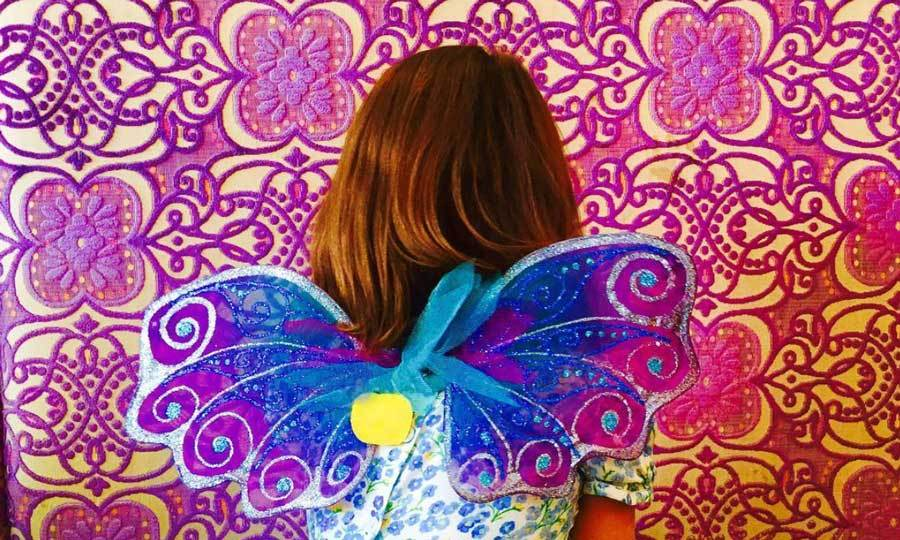 "Suri Cruise was ready to take flight wearing colorful fairy wings in a vibrant photo posted by her mom <a href=""http://us.hellomagazine.com/tags/1/katie-holmes/""><strong>Katie Holmes</strong></a>.