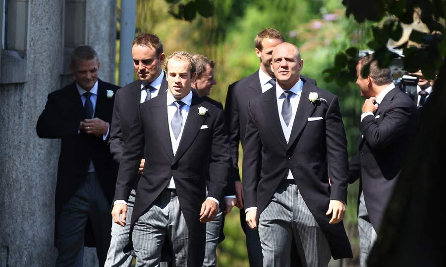 Making sure he got to the church on time, Mike Tindall arrived an hour and a quarter early to the wedding venue.