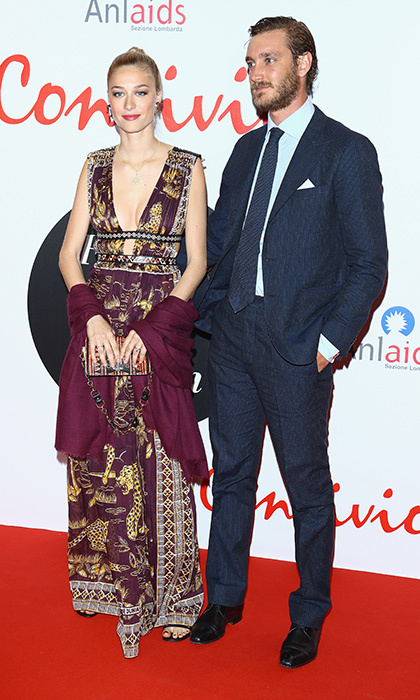 With her handsome bearded husband by her side, Beatrice stunned in a low-cut Valentino gown at Convivio 2016 in Milan.