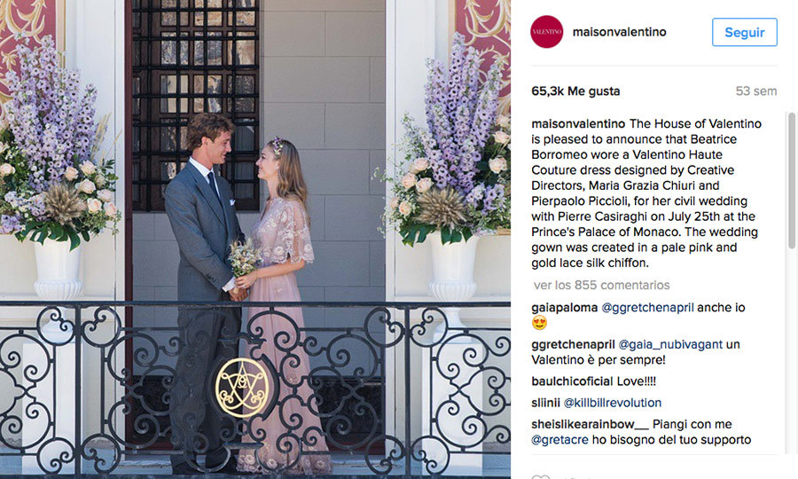 The couple looked more romantic – and more stylish! – than ever for their 2015 civil wedding at the Prince's Palace, with the bride in lavender Valentino haute couture. 