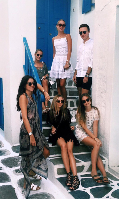 "Olympia was joined by a group of pals dubbed the ""Mykonos squad"" for her celebrations. The squad look effortlessly stylish posing for photos on the picturesque streets of Mykonos, when they were not lounging on the beach or at the pool.