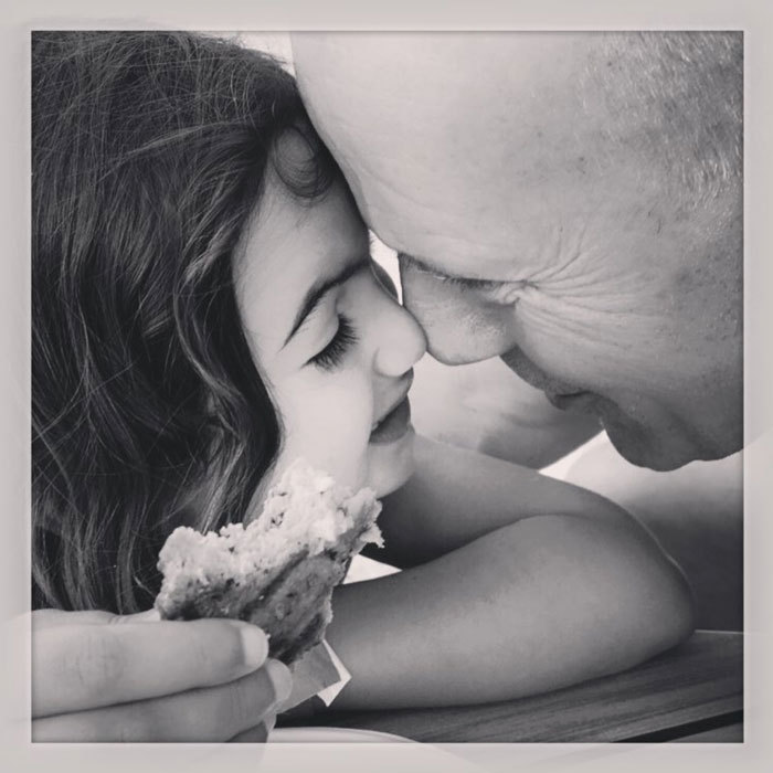 Summertime eskimo kisses! <b>Bruce Willis</b> shared a tender moment with his daughter Mabel.