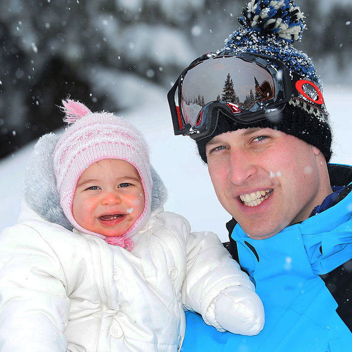 "<a href=""http://us.hellomagazine.com/tags/1/princess-charlotte/""><strong>Princess Charlotte</strong></a> was dad <a href=""http://us.hellomagazine.com/tags/1/prince-william/""><strong>Prince William</strong></a>'s little snow bunny, during a family ski holiday to the French Alps.