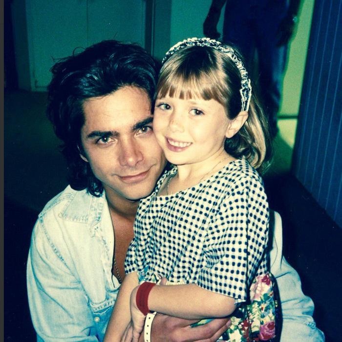 <b>John Stamos with Elizabeth Olsen</b> 