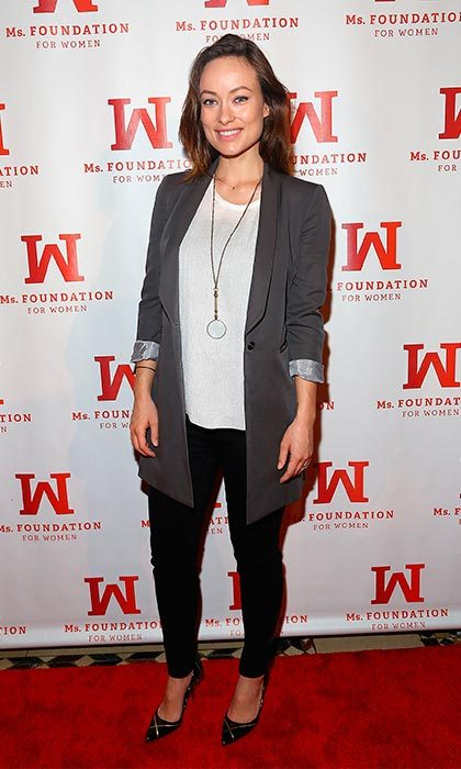 "Rocking casual chic, <a href=""http://us.hellomagazine.com/tags/1/olivia-wilde"" target=""_blank""><strong>Olivia Wilde</strong></a> looked relaxed and happy when she made her first public appearance a month after giving birth to son Otis. 