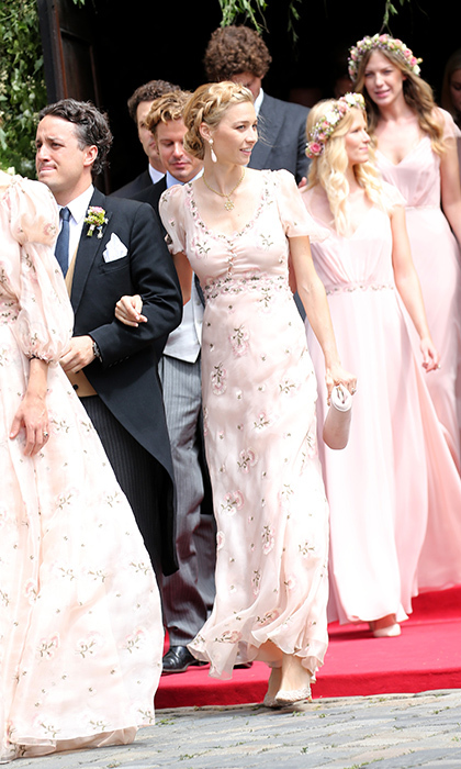 In attendance at the wedding was the couple's close friend and Monaco royal Beatrice Borromeo, who acted as a bridesmaid. 