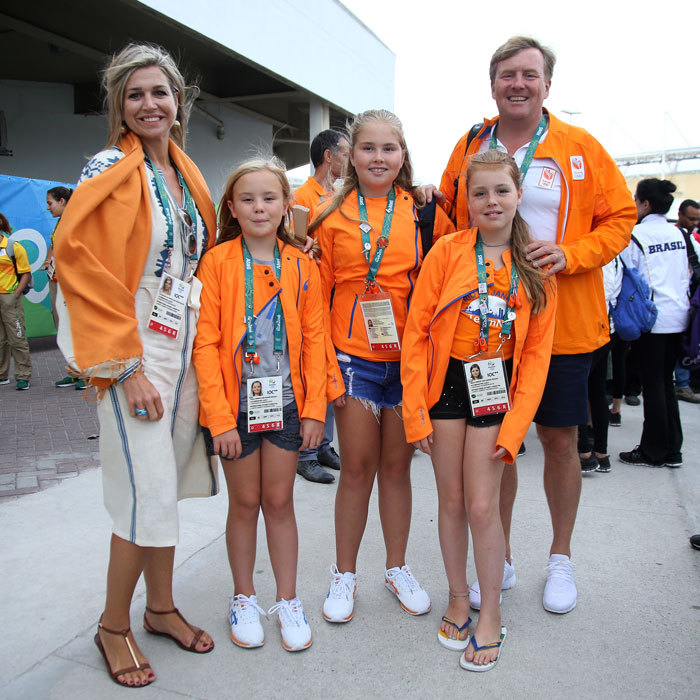 Queen Maxima and King Willem-Alexander of the Netherlands along with their daughters, Princess Ariane, Princess Catharina-Amalia and Princess Alexia cheered on Dutch athletes at the 2016 Olympic Games in Rio.