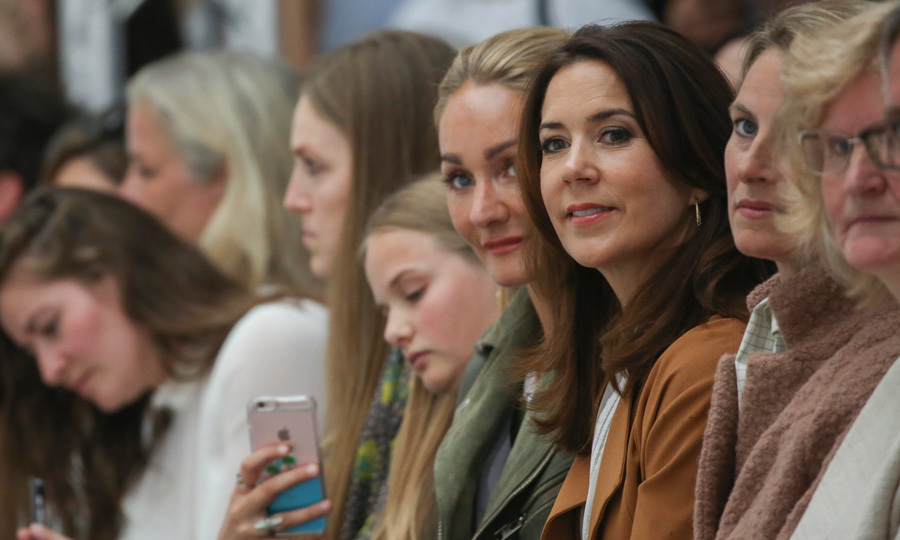 The fashionable royal attended the Danish label Fonnesbech's show, sitting front row at the spring/summer 2017 presentation.