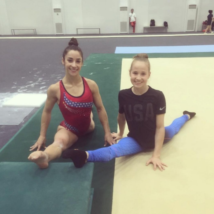 Aly Raisman Is Back In The Gym After Competing At The