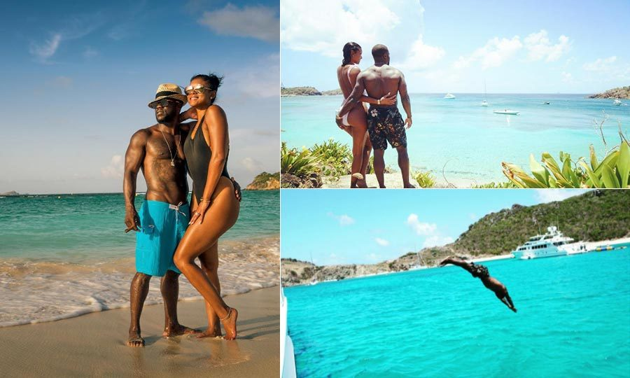 <b>Kevin Hart and Eniko Parrish</b>