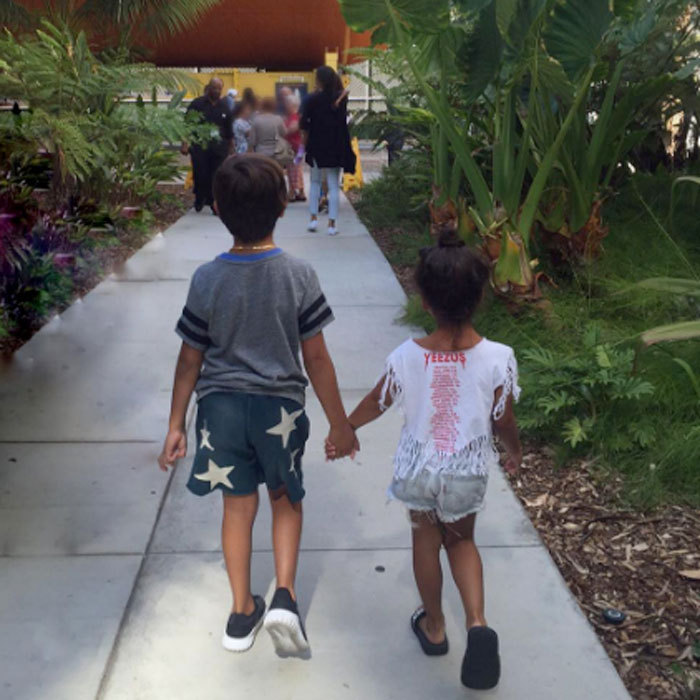 "Cousin love. Mason Disick and North West strolled hand-in-hand enjoying a fun summer day together in an image shared by  <a href=""http://us.hellomagazine.com/tags/1/kourtney-kardashian/""><strong>Kourtney Kardashian</strong></a>.