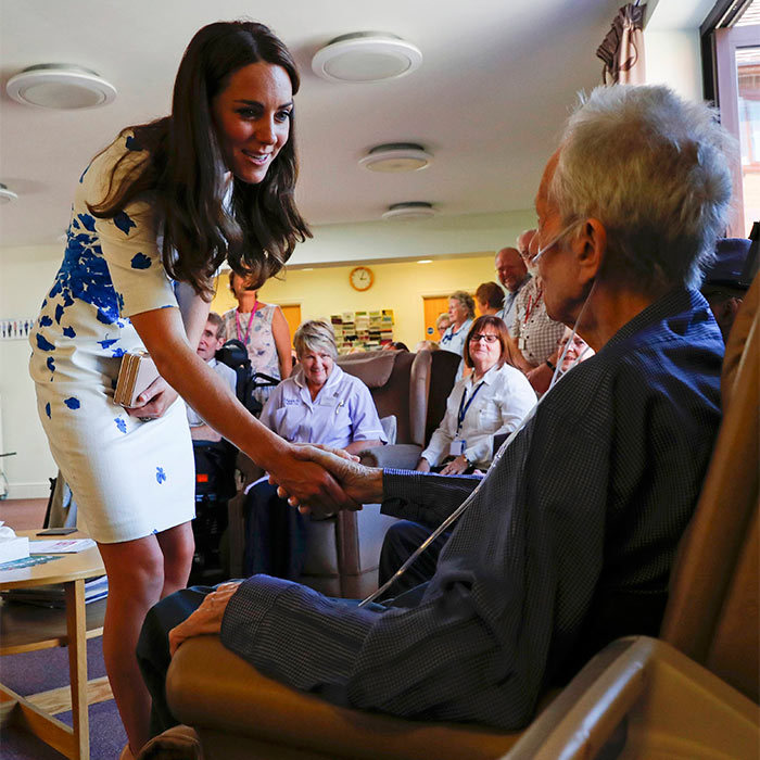 Following their visit to the youth center, the couple made their way to Keech Hospice Care to meet with patients. <br>The organization helps adults and children with life-limiting conditions live pain and symptom free, spend time with their family and friends, and stay out of hospital.