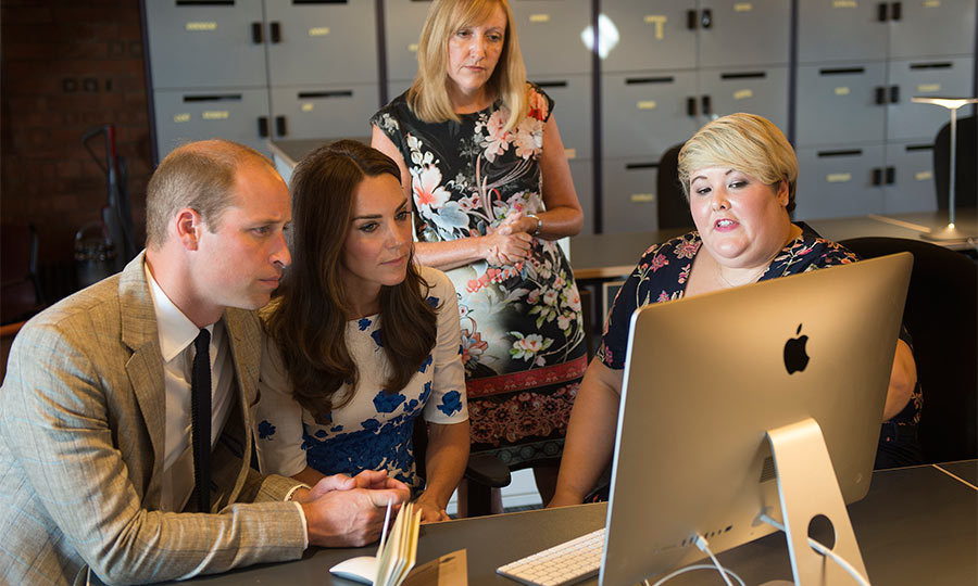 The royals visited the charity's new home, Bute Mills, which has just been revamped. They were given a tour of the facilities and an introduction to the charity.