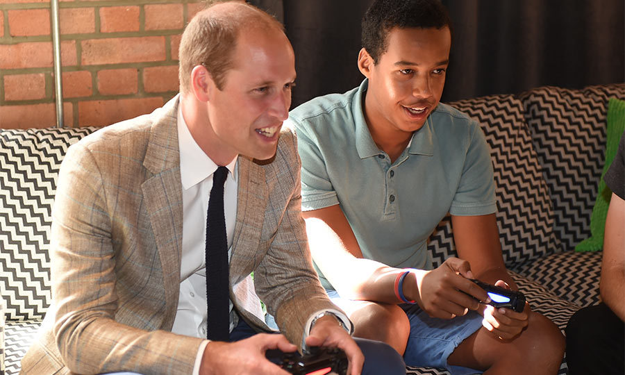 Following their briefing on the charity, William sat down with the members of Youthscape to play video games. The Prince joined in on a game of Fifa and scored for his soccer team Aston Villa.