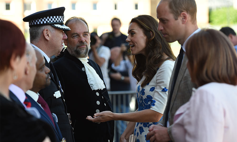 During their day of engagements, the parents-of-two met with the chief of police, the high sheriff of Luton and other members of the community from the Bedfordshire city.