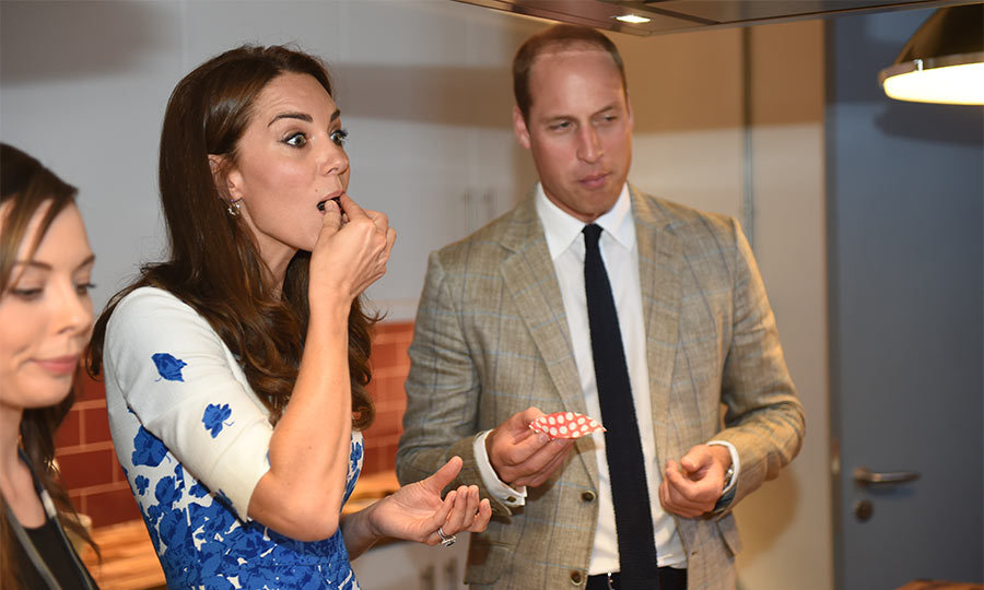 "During a baking demonstration, where they watched a group of young people make chocolate treats, Kate revealed that she often bakes at home with George. ""When I try to do this with George at home, chocolate and the golden syrup goes everywhere,"" she said. ""He makes so much mess. It's chaos.""