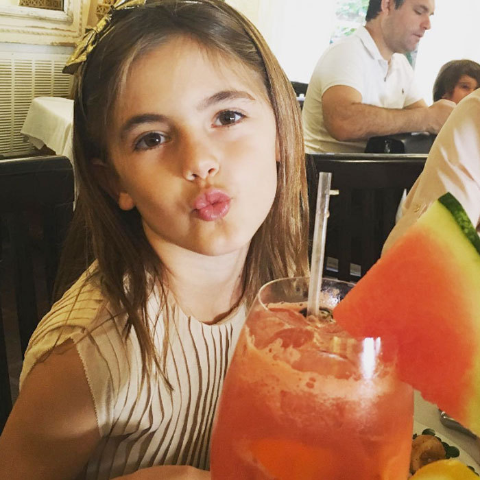 "Cheers! Victoria's Secret Angel <a href=""http://us.hellomagazine.com/tags/1/alessandra-ambrosio/""><strong>Alessandra Ambrosio</strong></a> celebrated her daughter Anja's eighth birthday with a delicious-looking watermelon drink. Earlier in the day the supermodel posted a tribute to her little girl writing, ""Happy birthday to my best friend , the light of my life , my angel Anja Louise !!!""