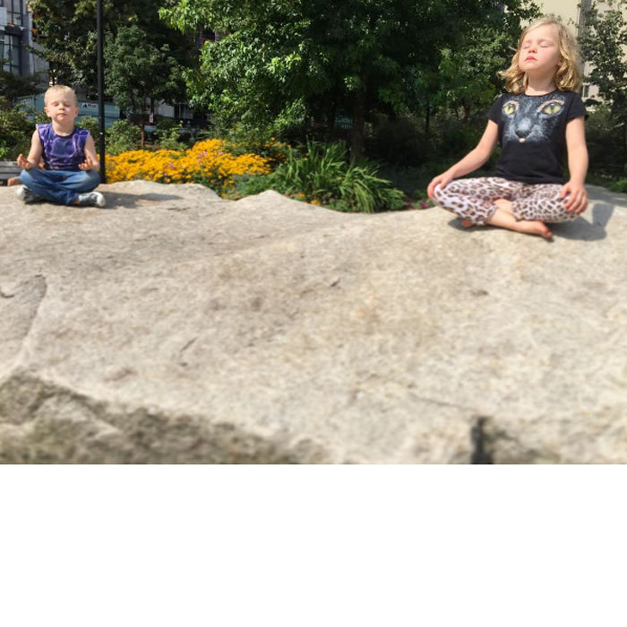"Namaste! <a href=""http://us.hellomagazine.com/tags/1/Neil-Patrick-Harris/""><strong>Neil Patrick Harris</strong></a>' twins  Harper and Gideon Scott Burtka-Harris found their zen, while adorably meditating outdoors. Attached to the photo, the actor wrote, ""Meditation rocks.""