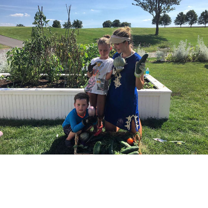 "The mom-of-three proved that a family that gardens together, stays together! Ivanka and her children Arabella and Joseph put their green thumbs to work on a sunny summer day. Attached to the photo, Donald Trump's daughter wrote, ""There are few things better than spending a hot summer evening in the garden with these next gen green thumbs!""