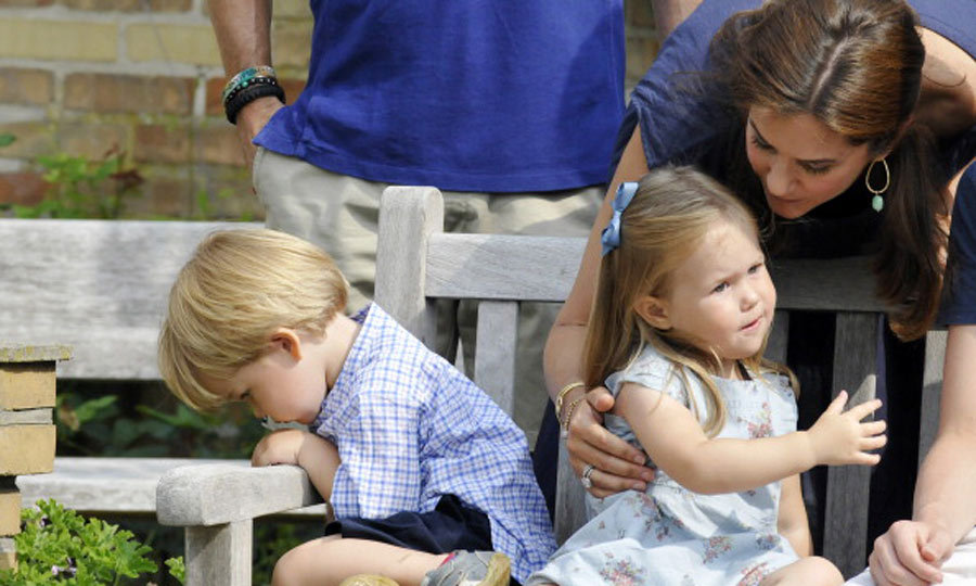 Prince Vincent was a little camera shy during the family photo call at Grasten Castle, in July of 2013. 