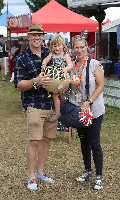 "It was a day of family fun for <a href=""http://us.hellomagazine.com/tags/1/mia-tindall/""><strong>Mia Tindall</strong></a> and her parents Mike Tindall and <a href=""http://us.hellomagazine.com/tags/1/zara-phillips/""><strong>Zara Phillips</strong></a>at the Big Feastival at Alex James' Farm in Kingham, Oxfordshire. 