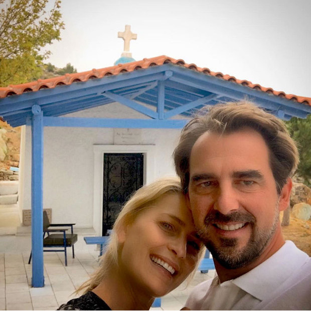 "Princess Tatiana of Greece celebrated her and Prince Nikolaos's sixth wedding anniversary on August 25 with this sweet photo. She captioned the snap, ""Happy Anniversary! Early morning walk to light a candle - celebrating SIX years today... #timeflies#grateful #love #happyingreece #naturalandhealthyliving #reasonsilovegreece.""