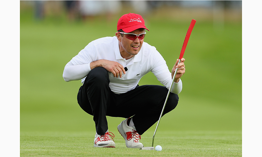 Golf, anyone? Crown Prince Frederik of Denmark hits the green prior to the start of 'Made In Denmark' at Himmerland Golf & Spa Resort on August 24, 2016 in Aalborg. 