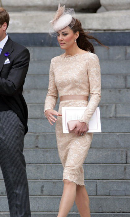 The Duchess emodies sleek and sophistication in this custom lace dress. 