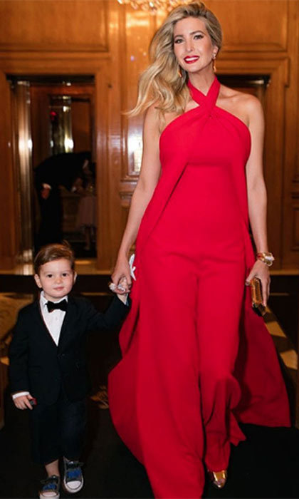 The perfect little gentleman! Joseph kept the pre Met Gala tradition alive and walked his mommy to the car.
