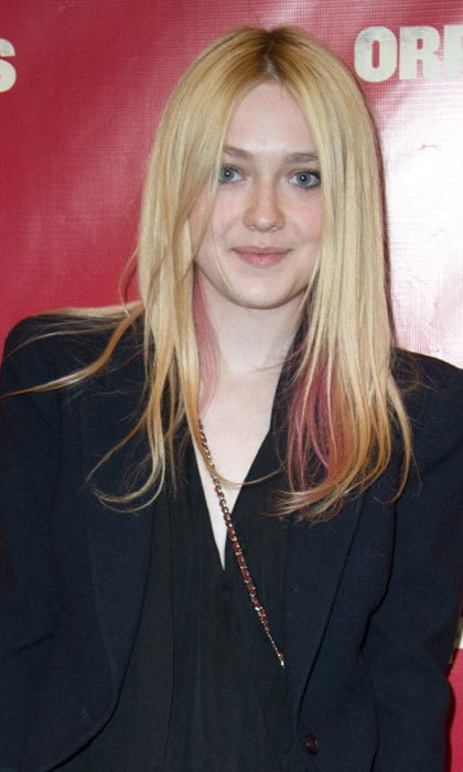 "You'll have to look close to notice the slight hint of pink in <a href=""http://us.hellomagazine.com/tags/1/dakota-fanning/""><strong>Dakota Fanning</strong></a>'s hair, but it's just the perfect way to add a touch of color.
