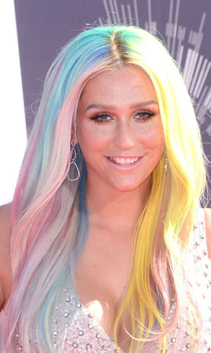 "<a href=""http://us.hellomagazine.com/tags/1/kesha/""><strong>Kesha</strong></a> didn't want to just pick one color, so she went full on rainbow. This is the definition of unicorn hair, and it's magical. 
