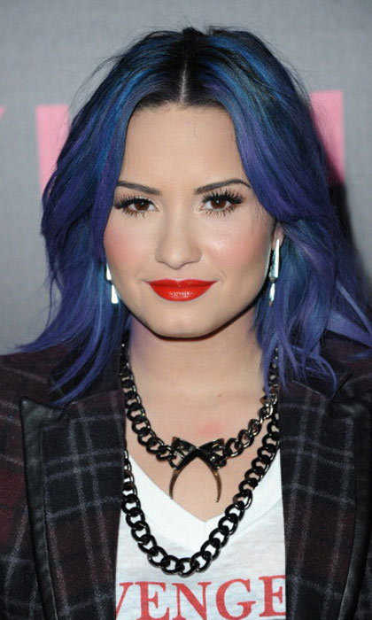 "<a href=""http://us.hellomagazine.com/tags/1/demi-lovato/""><strong>Demi Lovato</strong></a> embraced blue hues to stunning effect.