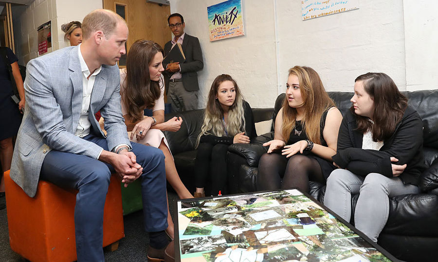 Will and Kate chatted with a group of young people during the visit.  
