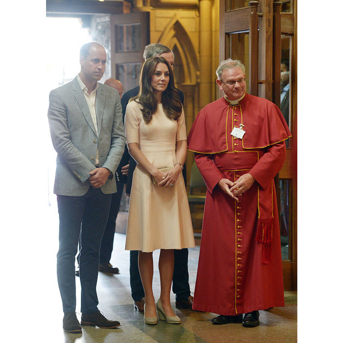 The Cambridges visited the Truro Cathedral with the Venerable Roger C Bush, Dean of Truro.