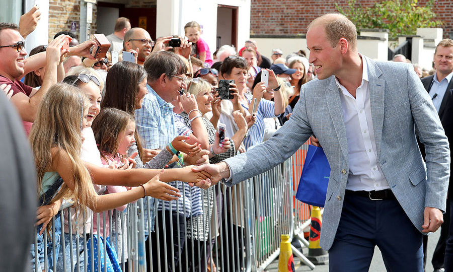 The Duke shook hands with well-wishers outside the Zebs Youth Centre.