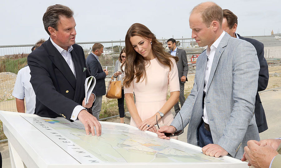 The royals visited Nansledan, a 218-hectare site, which will provide future business and housing to the local area. 